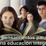 Pensamientos y máximas: educación